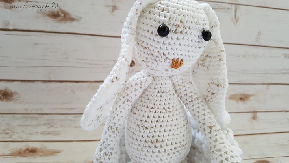 Crochet handmade white Bunny