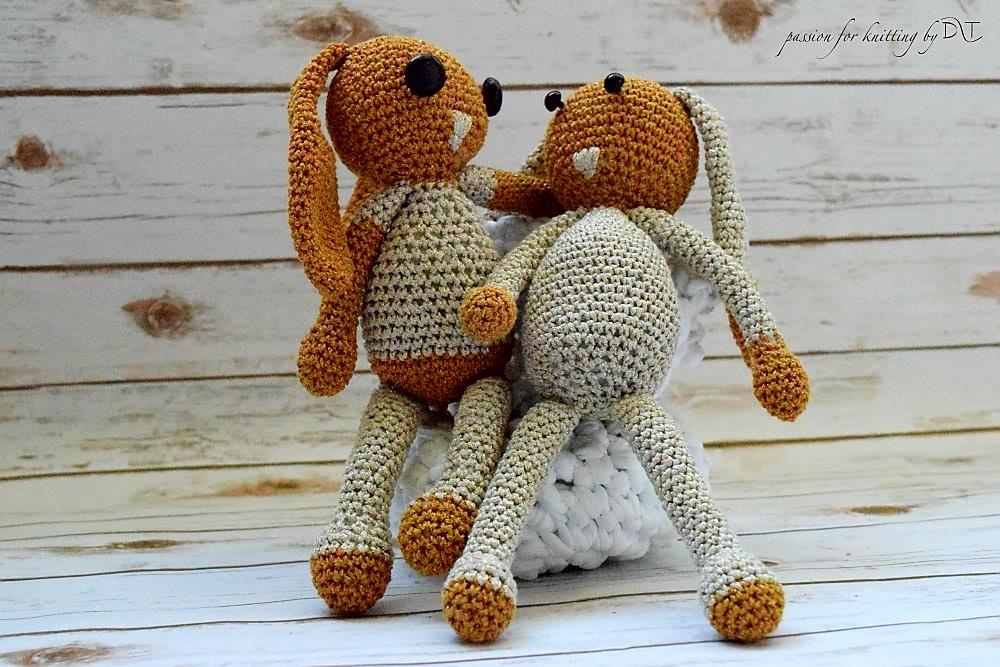 Crochet handmade glitter Bunny