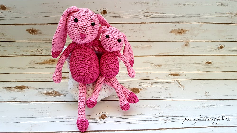 Crochet handmade pink Bunny