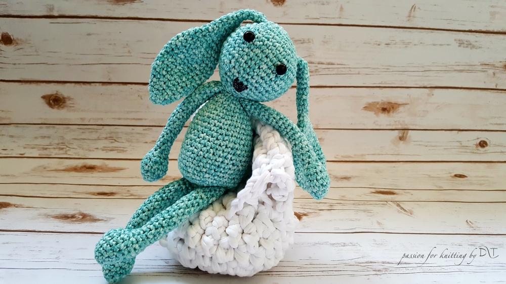 Crochet handmade light blue Bunny