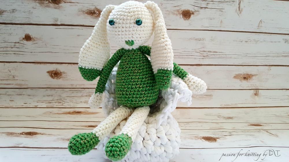 Crochet handmade green Bunny