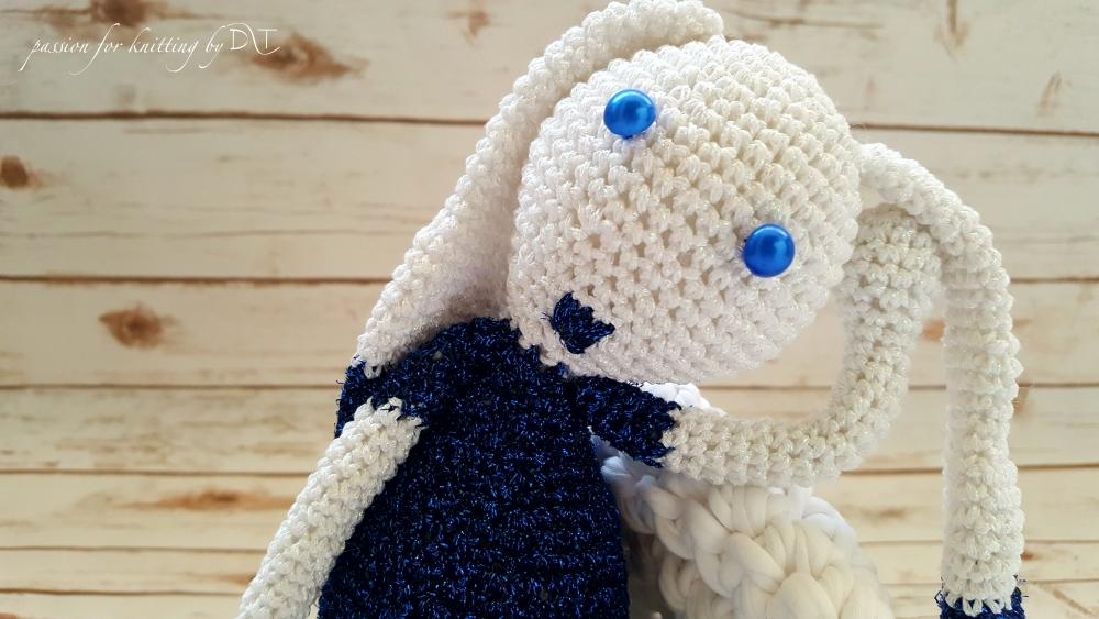 Crochet handmade glitter blue Bunny